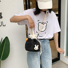 Load image into Gallery viewer, Cartoon Little Rabbit Drawing Rope Crossbody Bag SP15103