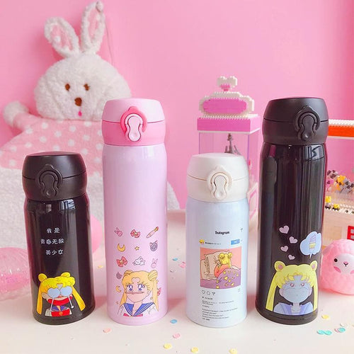 Kawaii Sailormoon Usagi Stainless Steel Vacuum Water Bottle S13175
