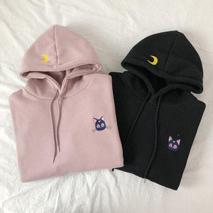 Black/Pink Sailor Moon Luna Hoodie SP14813