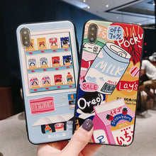 Load image into Gallery viewer, Snacks And Milk Phone Case for iphone 6/6s/6plus/7/7plus/8/8P/X/XS/XR/XS Max SP16562 - Harajuku Kawaii Fashion Anime Clothes Fashion Store - SpreePicky