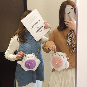 Cute Lucky Cat Plush Messenger Bag SS0414