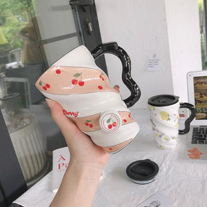 Kawaii Fruits Printing Ceramic Cup SS0465