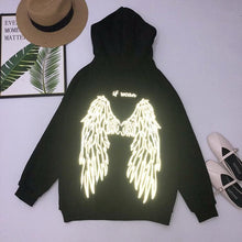Load image into Gallery viewer, Free Ship Reflective Wings Black Hoodie Jumper SP14489