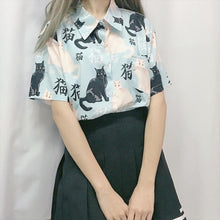 Load image into Gallery viewer, Kawaii Cat Printing Shirt SP14818