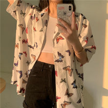Load image into Gallery viewer, Butterflies Tee Shirt Blouse SP14800