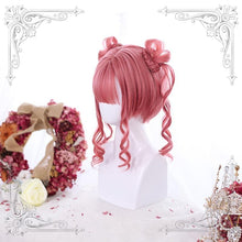 Load image into Gallery viewer, Red/Black Tiger mouth Clip Double Ponytail Cute Wig SP14631