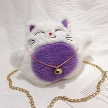 Load image into Gallery viewer, Cute Lucky Cat Plush Messenger Bag SS0414