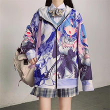 Load image into Gallery viewer, Anime Long Sleeved Thin Cardigan Jacket Coat SP15165