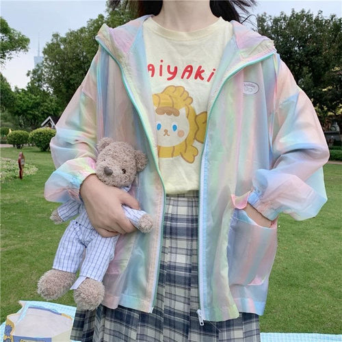 Colorful Summer Hoodie Coat SP15047