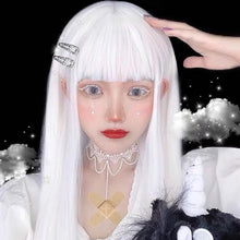 Load image into Gallery viewer, White Harajuku Gothic Girl Long Wig SP236