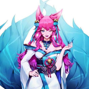 Game League of Legends Ahri Cosplay Wig SS0592 - Cospicky