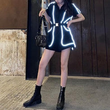 Load image into Gallery viewer, Reflective Sports Jumpsuit Shorts SP15014