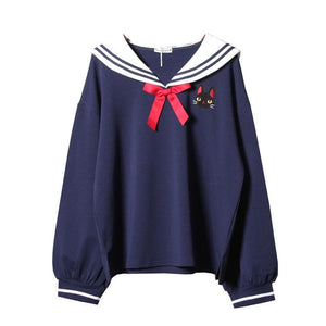 Lovely Cats Navy Hoodie SP14978