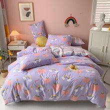 Load image into Gallery viewer, Kawaii Peach Print Bedding Set SP15605