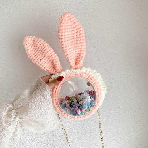 Hand-stitcHed Cute Cartoon Bunny Shoulder Bag SS0462