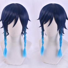 Load image into Gallery viewer, Genshin Impact Venti Blue Gradient Braid Cosplay Wig SP15257