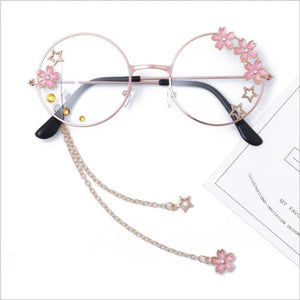 Cute Sakura Pendant Clear Optical Glasses Frame SP14857