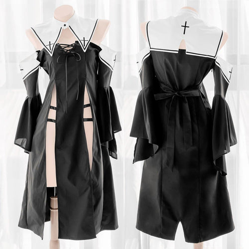 Sexy Hollowed-out Cross Uniform Dress EG0525