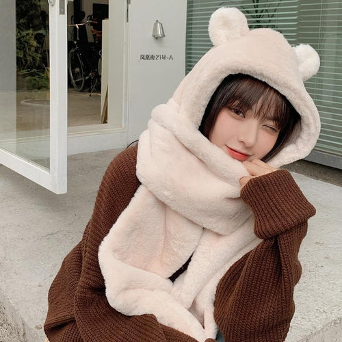 Cute Bear Hooded Scarf SS0839