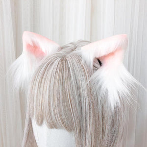 5 Colors Kawaii Plush Cat Ears Hair Clip SP14572