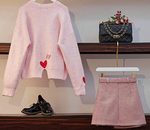Load image into Gallery viewer, Sweet Heart Sweater/Skirt SP14218