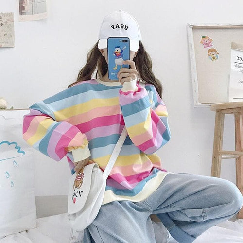 Kawaii Rainbow Pullover Jumper SP14467