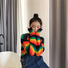 Load image into Gallery viewer, Loose Rainbow Long Sleeve Sweater SP14597 - SpreePicky