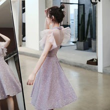 Load image into Gallery viewer, Pink Elegant Paillette Choker Party Dress SP14699