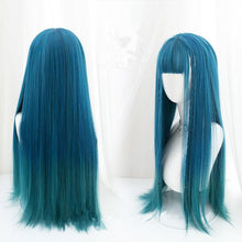 Load image into Gallery viewer, Lolita Blue JK Long Curly Hair/long Straight Hair SP15355