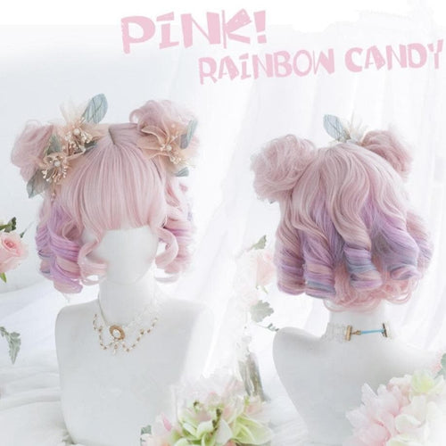 Pink Rainbow Candy Lolita Wig SP15164