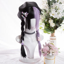 Load image into Gallery viewer, Half Black Half Purple Straight Hair Wig SP15248