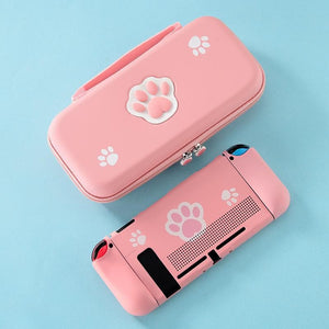 Kawaii Pink Cat Pastel Cute Paw Switch Protect Case and Store Bag SP16187 - SpreePicky Безкоштовна доставка