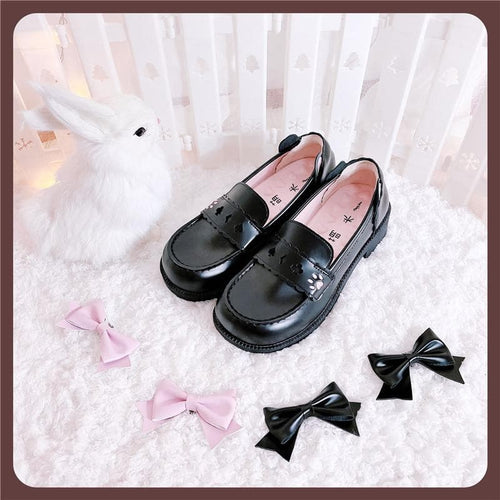 Kawha Cat Claw Bowknot Lolita Shoes SS1023