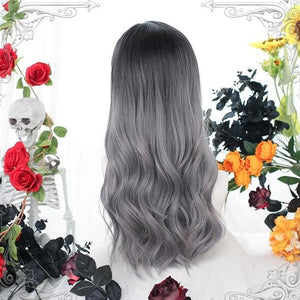 Gentle Lolita Silvery Gray Long Curls Hair SP15151