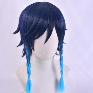 Genshin Impact Venti Blue Gradient Braid Cosplay Wig SP15257