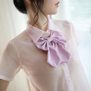 Pink/Black/Blue Transparent Sexy School Uniform SP14552