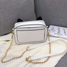 Load image into Gallery viewer, Kawaii Square Sequined Cat Ear  Single Shoulder Bag SP15315