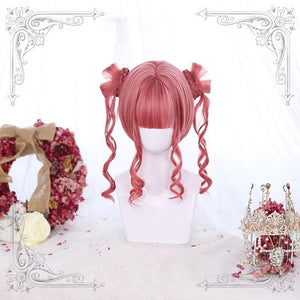 Red/Black Tiger mouth Clip Double Ponytail Cute Wig SP14631