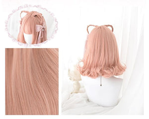 Orange Kawaii Lolita Short Curl Wig SP13669