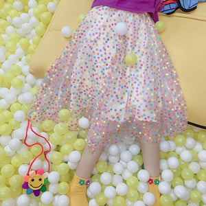 Pastel Candy Spot Maxi Skirt SP14010