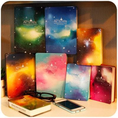 Pastel Galaxy Stars Notebook S12765