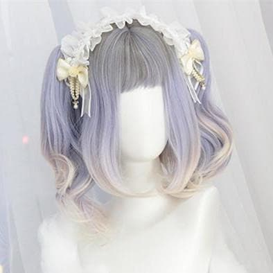 Pastel Grey Purple Mixed Lolita Wig S12820