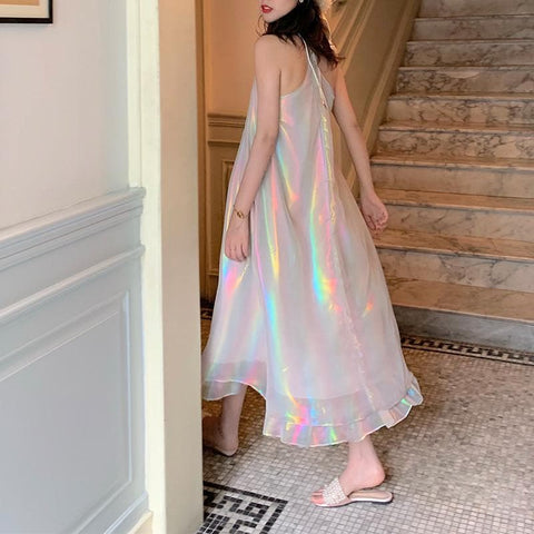 Pastel Hologram Rainbow Dress SP13817