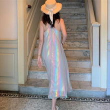 Load image into Gallery viewer, Pastel Hologram Rainbow Dress SP13817