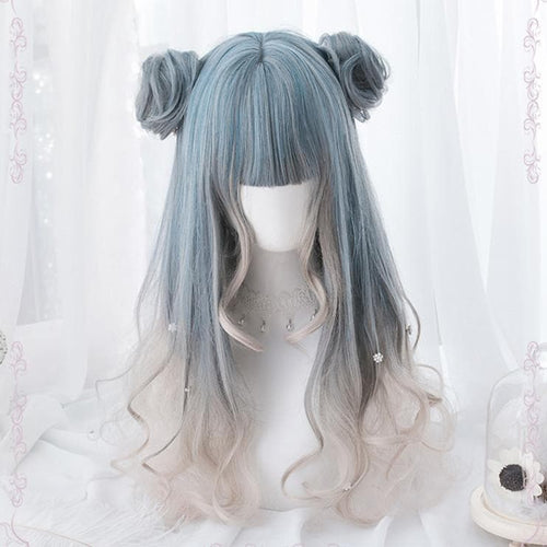 Pastel Mixed Color Lolita long Curl Wig S12976