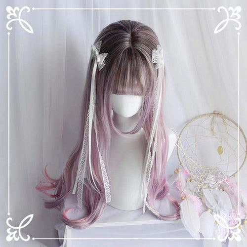 Pastel Mixed Color Long Curl Wig SP13684