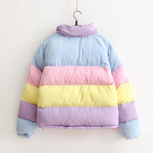 Load image into Gallery viewer, Pastel Rainbow Bomb Jacket Coat SP1711100