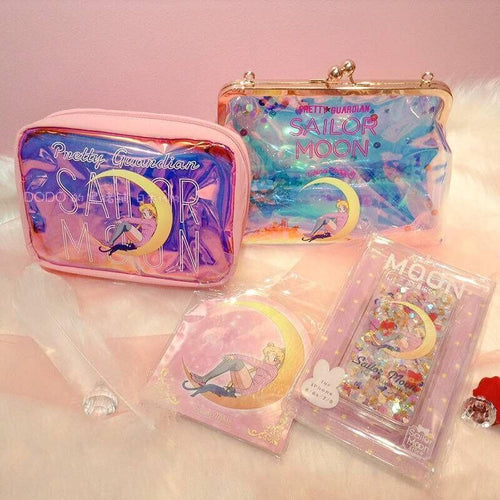 Pastel Sailor Moon Hologram Cross Body Bag/Makeup Bag SP14016
