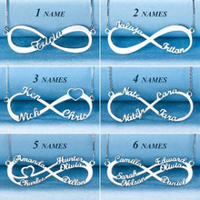 Load image into Gallery viewer, Personalized Infinity Name Necklace Sterling Silver SP13750