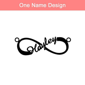 Personalized Infinity Name Necklace Sterling Silver SP13750